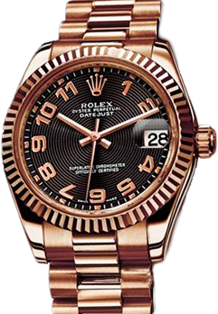 Rolex Архив Rolex 31mm Everose Gold 178275 Black
