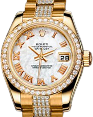 Rolex Datejust Special Edition Lady 26mm Yellow Gold 179138 White MOP