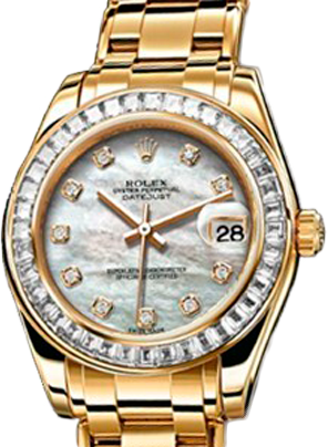 Rolex Datejust Special Edition Special Edition 34 mm Yellow Gold 81308BRIL White MOP D