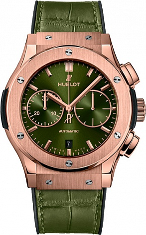 Hublot Classic Fusion Chronograph King Gold Green 521.OX.8980.LR