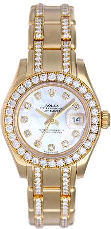 Rolex Datejust Special Edition Lady Pearlmaster 29 mm Yellow Gold 80298 White MOP D