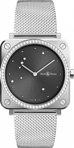 Bell & Ross Instruments GREY DIAMOND EAGLE DIAMONDS BRS-ERU-ST-LGD/SST