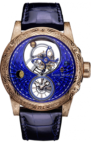 Louis Moinet Limited editions 46 mm  Space Mystery Rose gold Engraved