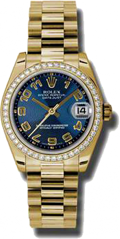 Rolex Datejust 26,29,31,34 mm Lady 31mm Yellow Gold 178288 blcap