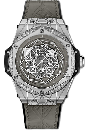 Hublot Big Bang One Click 39 MM Sang Bleu Steel Grey Diamonds 39 мм 465.SS.7047.VR.1204.MXM20