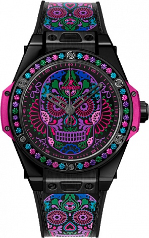 Hublot Big Bang One Click 39 MM Calavera Catrina Black Ceramic 465.CX.1190.VR.1299.MEX18