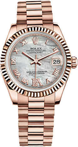 Rolex Datejust 26,29,31,34 mm Lady 31mm Everose Gold 178275F-0034