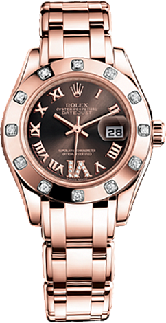 Rolex Datejust Special Edition Lady Pearlmaster 29 mm Everose Gold 80315-0013
