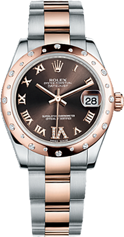 Rolex Datejust 26,29,31,34 mm Lady 31mm Steel and Everose Gold 178341-0010