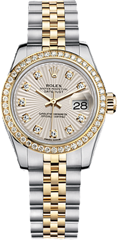 Rolex Datejust 26,29,31,34 mm Lady 26 mm Steel and Yellow gold 179383-0011