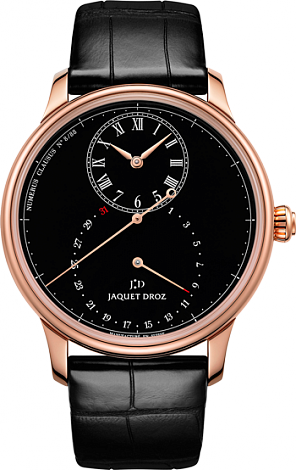 Jaquet Droz Legend Geneva Grande Seconde Deadbeat Black Enamel J008033201