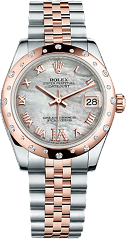 Rolex Datejust 26,29,31,34 mm Lady 31mm Steel and Everose Gold 178341-0007