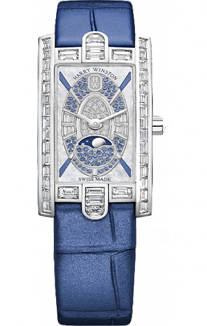 Harry Winston Harry Winston Avenue Mini Moon Phase 20th Anniversary AVCQMP16WW005