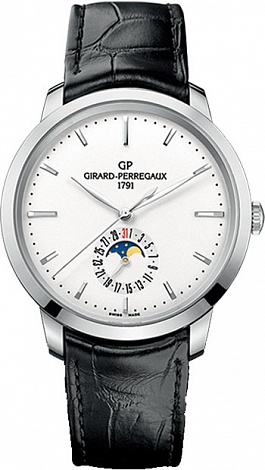 Girard-Perregaux 1966 DATE AND MOON PHASES 49545-11-131-BB60