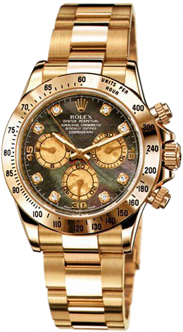Rolex Daytona Cosmograph 40mm 116528 Dark Pearl Dial Diamond