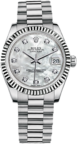 Rolex Datejust 26,29,31,34 mm Lady 31mm White Gold 178279-0015
