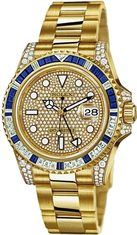 Rolex Архив Rolex 40mm Yellow Gold Jewellery 116758SA Pave
