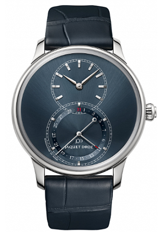 Jaquet Droz Legend Geneva Grande Seconde Quantieme Satin-Brushed Blue J007010244