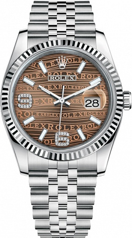 Rolex Datejust 36,39,41 mm 36mm Steel and White Gold 116234