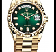 Green Dial yellow gold  01