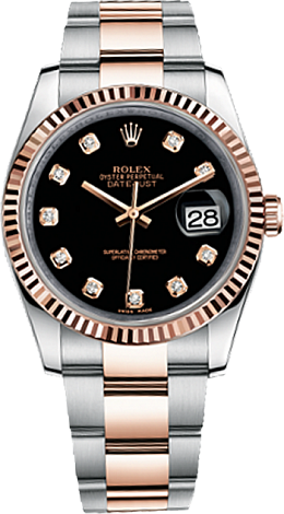 Rolex Datejust 36,39,41 mm 36 mm Steel and Everose Gold 116231-0071