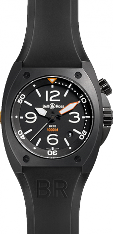 Bell & Ross Marine Automatic BR 02 Carbon Synthetic